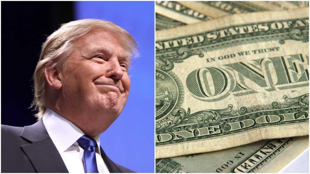 """Trump o wypłacie prezydenta: """"To nic wielkiego. Nie biorę jej"""""""