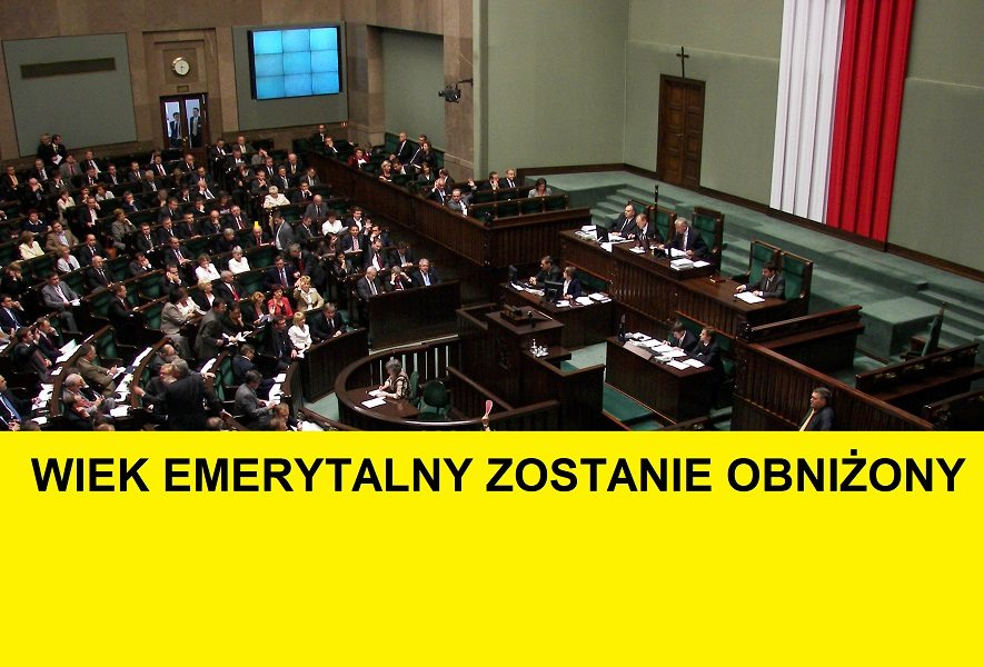 PILNE: Wiek emerytalny zostanie obniżony. Sejm przegłosował prezydencką ustawę