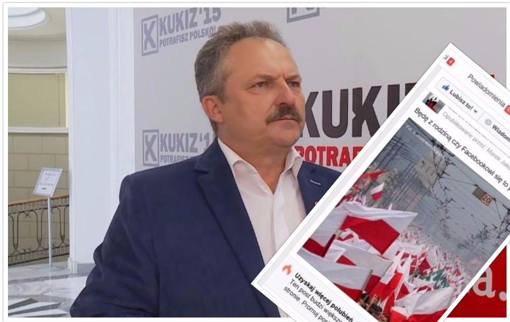 """Facebook zablokował konto posła Kukiz'15 za opublikowanie zdjęcia polskiej flagi. """"To sprawa dla ABW!"""""""