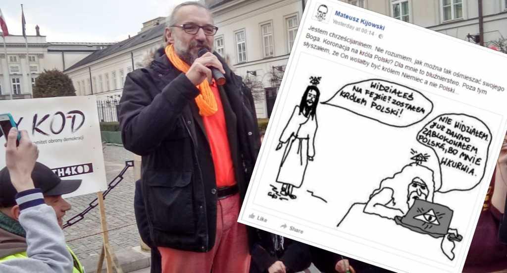 Kijowski ostro komentuje intronizację Chrystusa na króla Polski. Prawica oburzona
