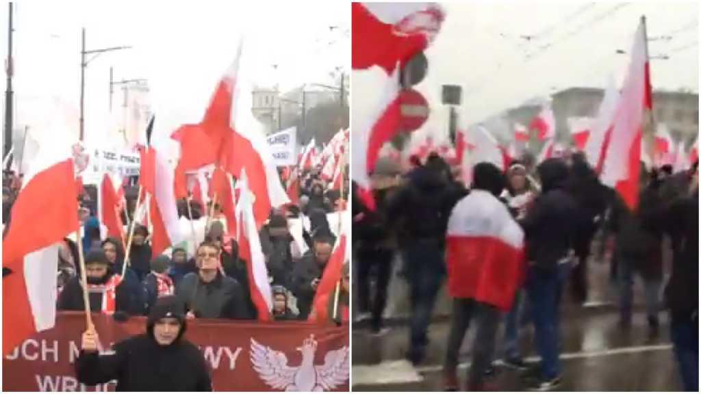 Są już pierwsze nagrania z Marszu Niepodległości (video)