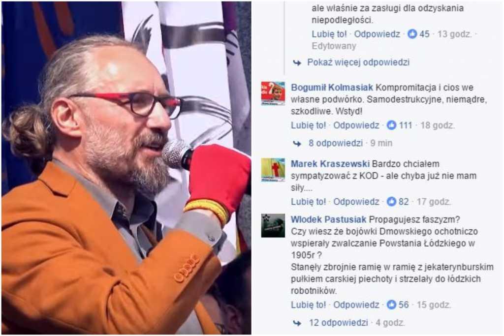 """Sympatycy KOD oskarżają Kijowskiego o promowanie faszyzmu. """"Połączcie siły z ONR-em"""""""