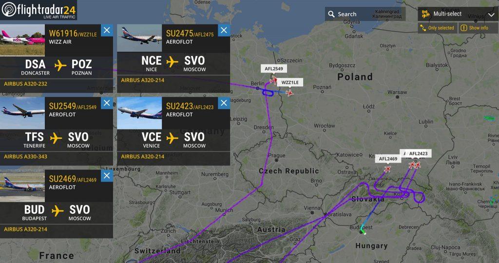 Zamknięto strefę powietrzną nad Polską, samoloty nie dostawały zgody na przelot