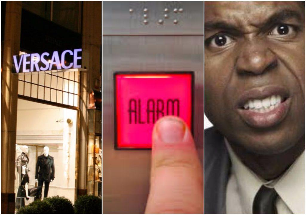 """Były pracownik: Sklepy Versace mają specjalny """"kod"""" alarmujący przed czarnoskórymi klientami"""