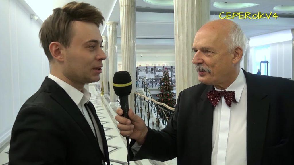 Dzisiaj dziennikarze strajkują, więc w ich role postanowił wcielić się Janusz Korwin-Mikke (VIDEO)