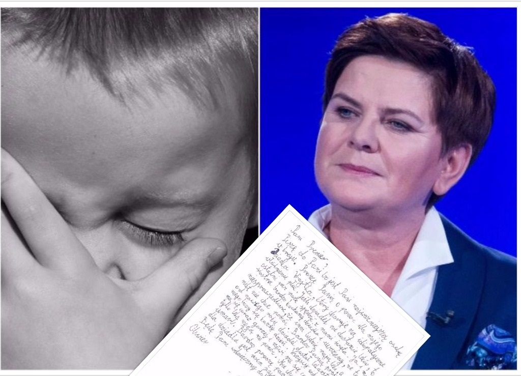 Przejmujący list 9-latka do premier Szydło