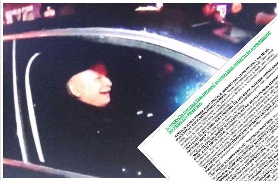 Wyciekły tajne instrukcje dla posłów PiS dot. ostatnich wydarzeń pod Sejmem
