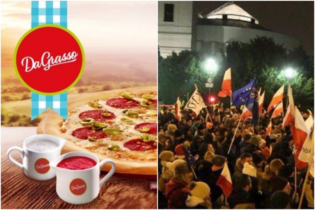 Pizzeria Da Grasso z Ochoty wspiera KOD i protestujących