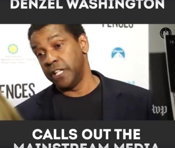 Denzel Washington absolutnie miażdży mainstreamowe media (video)