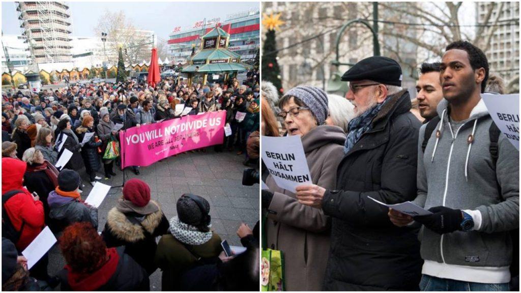 Mieszkańcy Berlina wspólnie śpiewali przeciw terroryzmowi (video)
