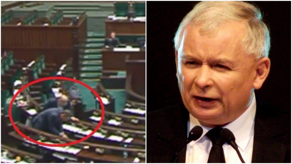 Poseł PO przeglądał sobie… notatki Jarosława Kaczyńskiego. Co tam znalazł?