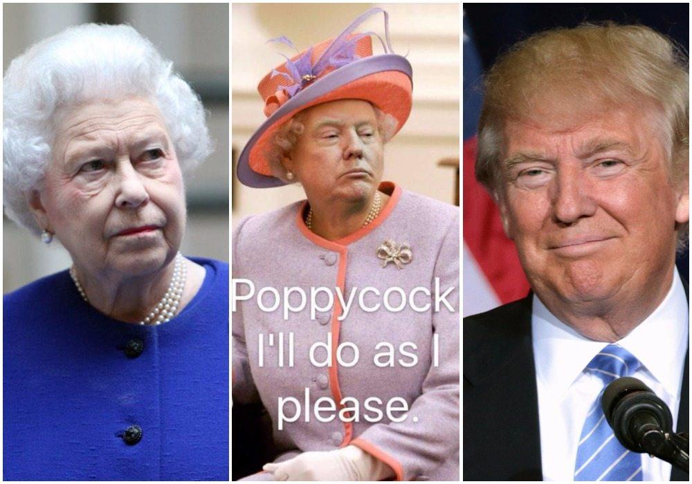 #Humor Donald Trump jako królowa angielska. Kapitalne (FOTO)