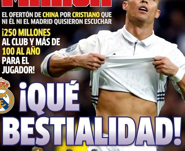 Szalona oferta za Ronaldo. Hiszpanie: To już bestialstwo