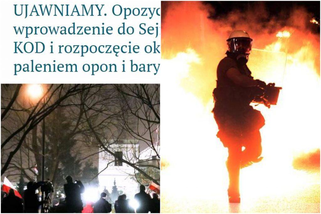 """Prawda czy kłamstwo prorządowych mediów o brutalnym przewrocie? """"Ujawniamy! Zdemolują Sejm i się zabarykadują"""""""