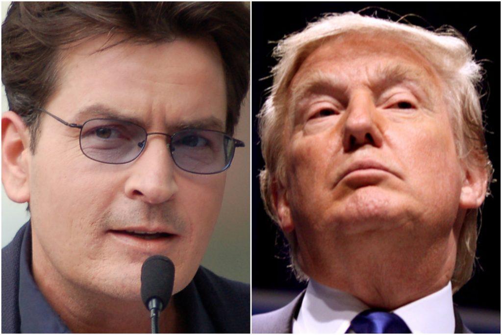 Charlie Sheen grubo przesadził? Życzy Trumpowi…