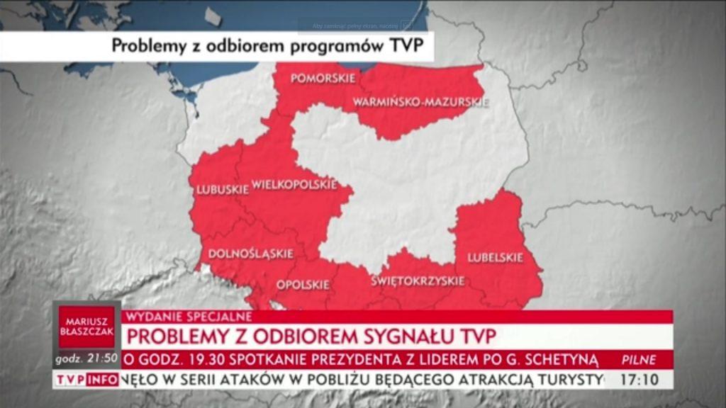 Polacy alarmują o braku sygnału TVP. Prezes Kurski wieszczy spisek opozycji (video)