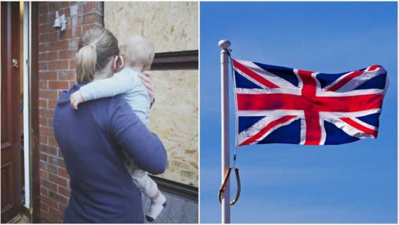 Polka z dzieckiem & Flaga