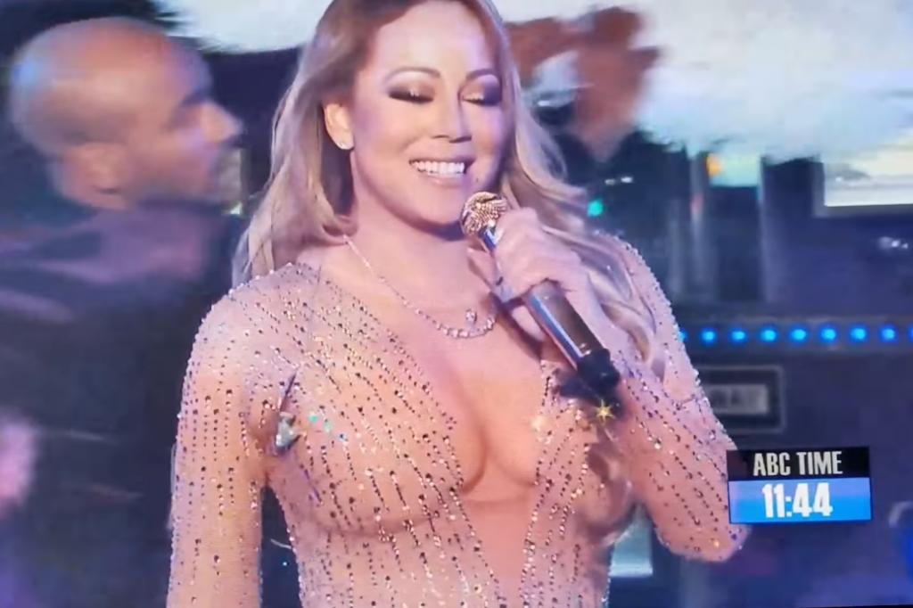 Katastrofalna wpadka Mariah Carey podczas występu sylwestrowego na Times Square (video)