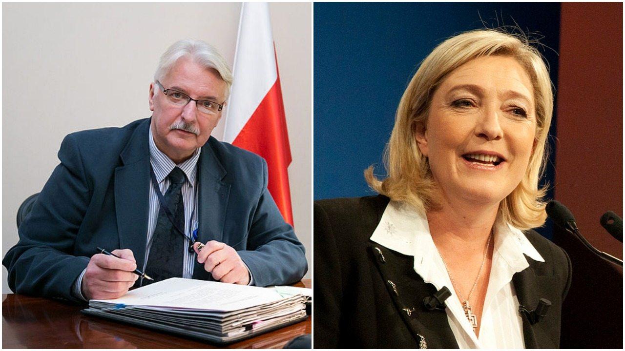 Waszczykowski spotkał się z Le Pen. Co wywnioskował ze spotkania?