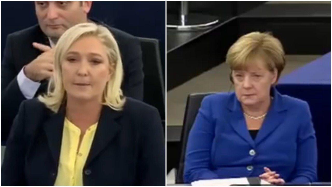 Gorąco w Parlamencie Europejskim. Le Pen ostro do Merkel (video)