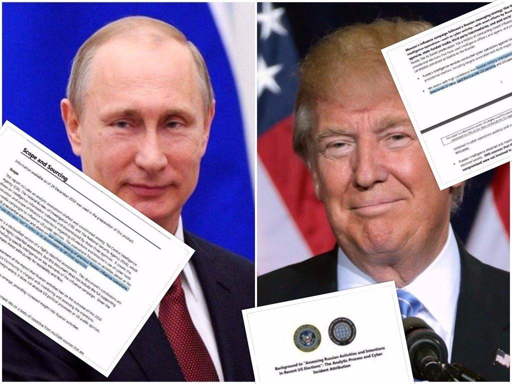 """Odtajniono raport wywiadu USA. """"Oto jak Putin pomagał Trumpowi podczas wyborów"""""""
