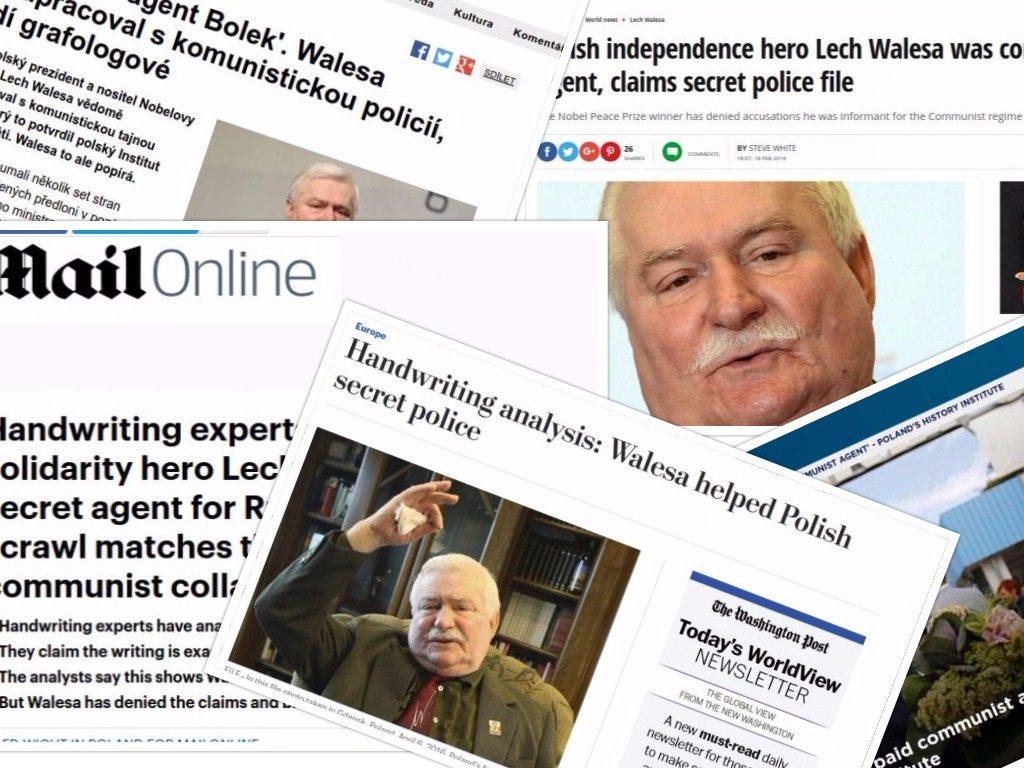 Wyniki ekspertyzy IPN niszczą międzynarodową reputację Wałęsy. Światowe media bez hamulców