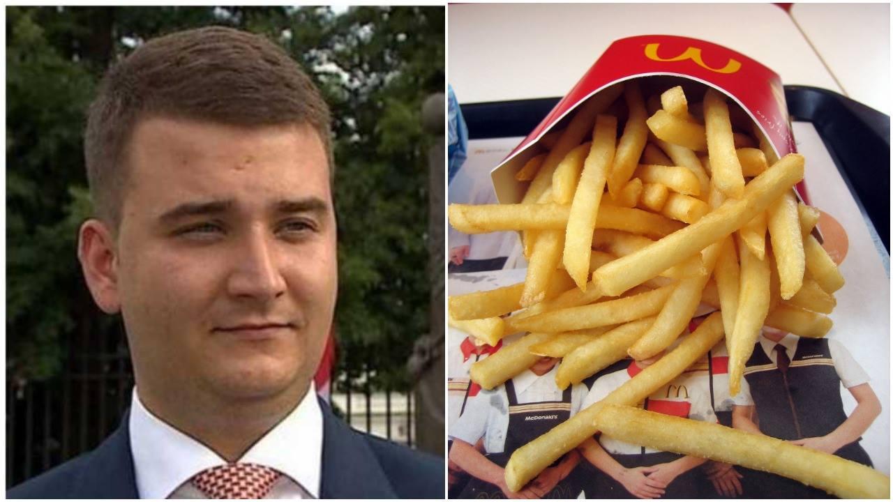 To już jego koniec? Media obiega informacja o podróży Misiewcza do McDonalds na sygnale (FOTO)