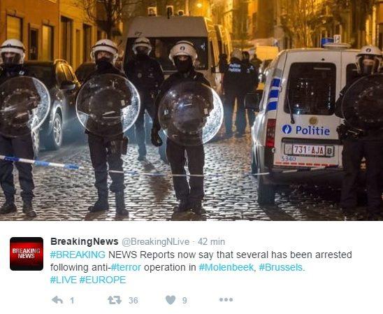 Bruksela: W nocy panika i antyterroryści na ulicach (VIDEO + ZDJĘCIA)