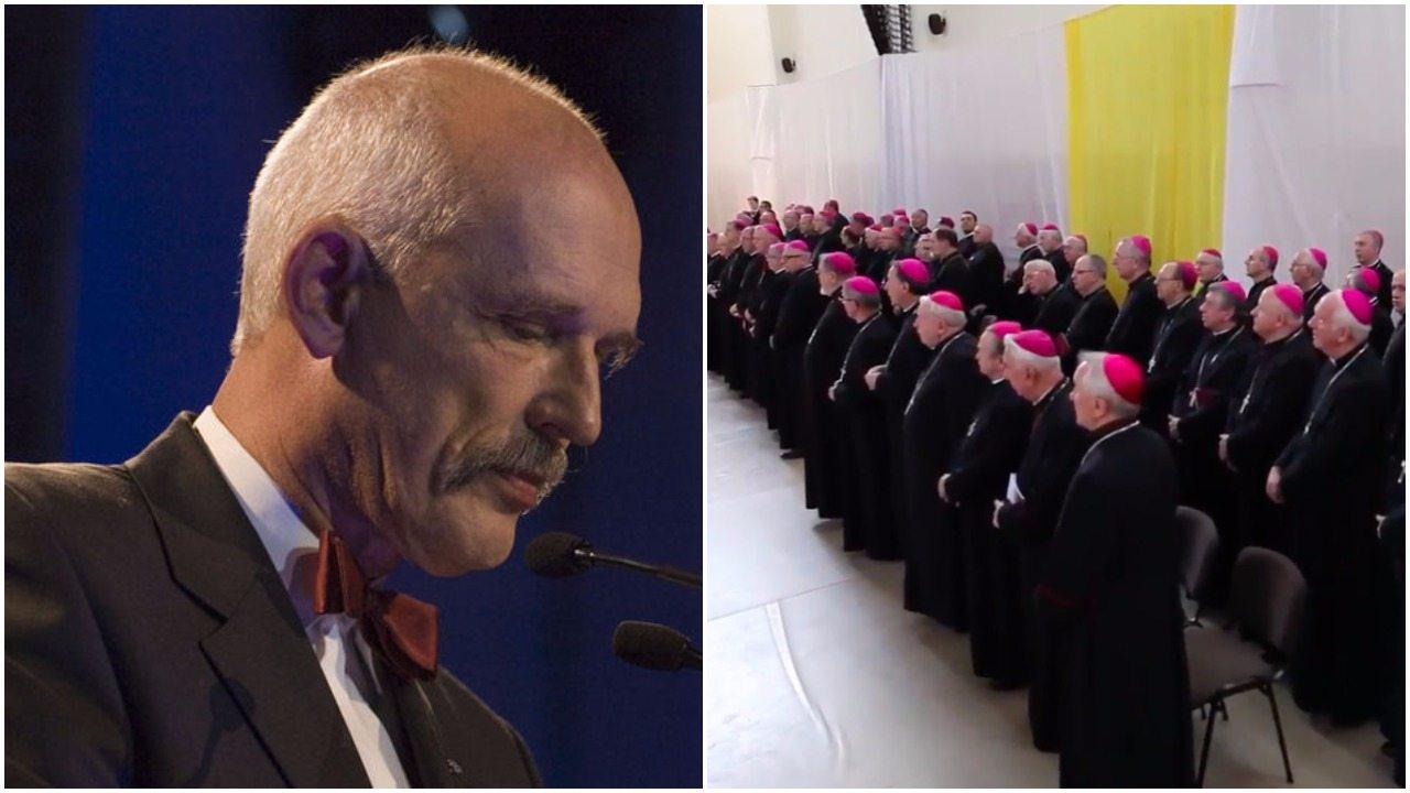 JKM nazwał papieża szatanem. Jest oficjalna odpowiedź polskiego kościoła i riposta na nią
