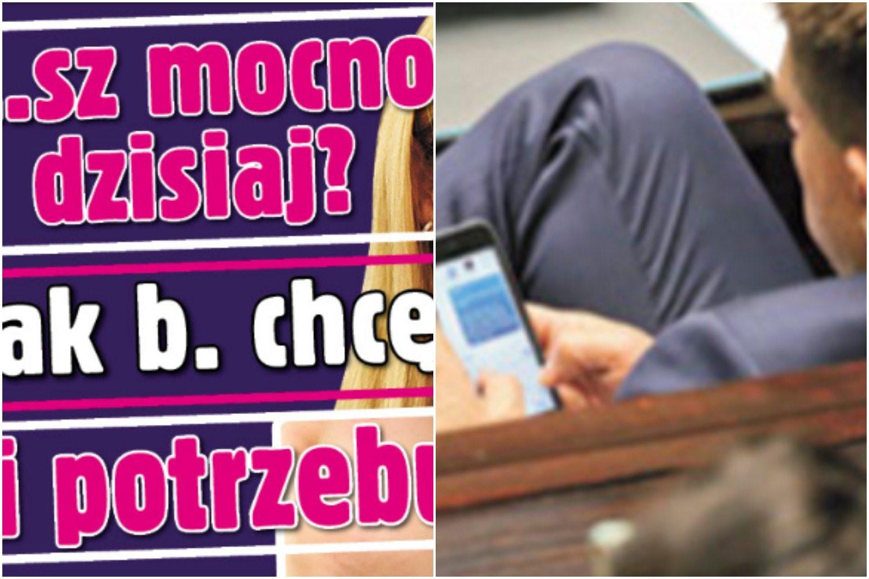 """Gorące SMS-y na posiedzeniu Sejmu znów uderzają w Petru i Schmidt """"*****sz dziś mocno?"""" (FOTO)"""