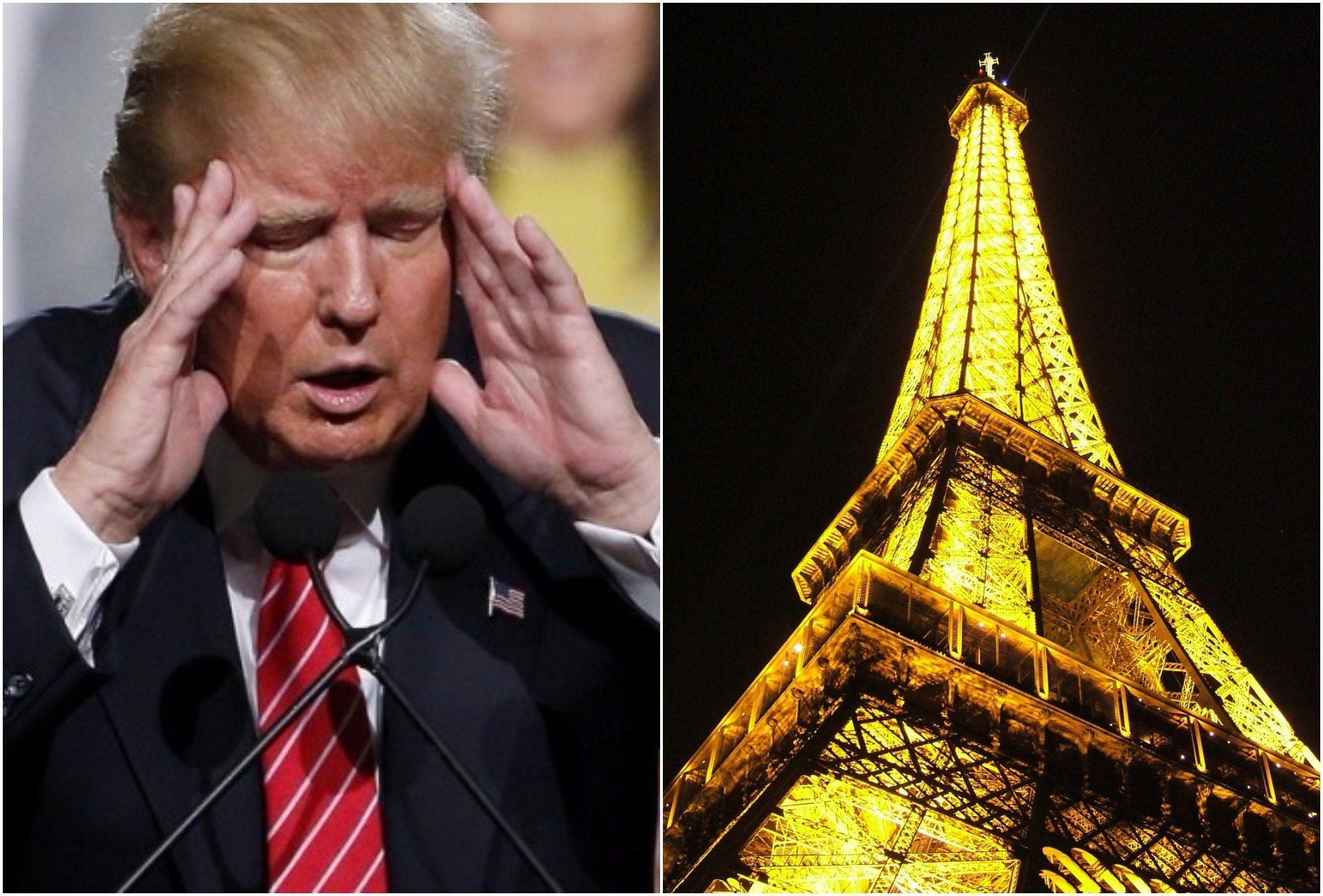 Trump wyjątkowo bezpośrednio  o Paryżu. Opowiedział historię swojego przyjaciela