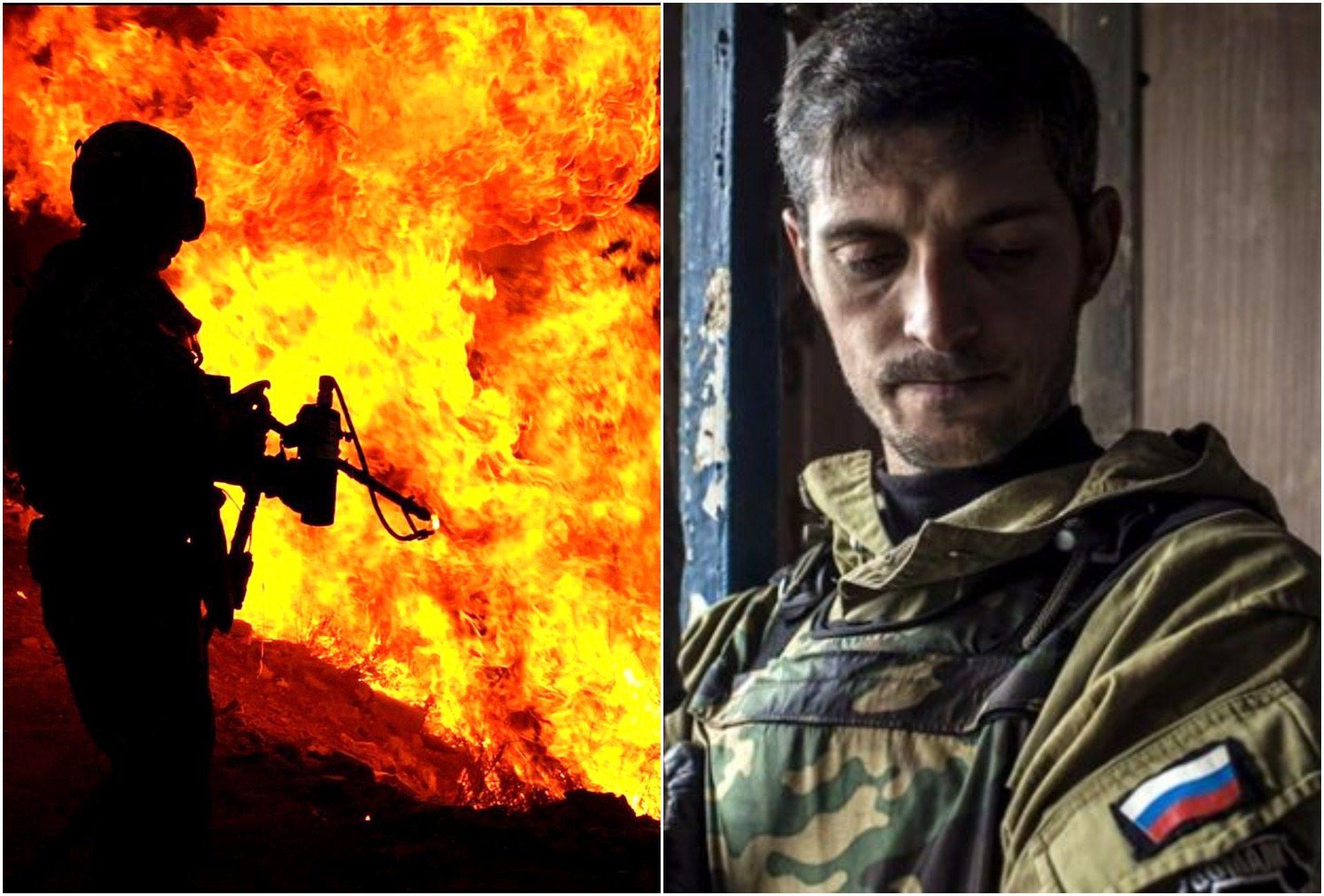 Groził Polsce, spalili go miotaczem ognia (video)
