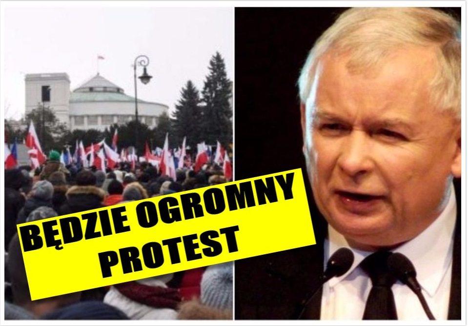 Te słowa Kaczyńskiego rozwścieczyły tysiące Polaków. Będzie ogromny protest