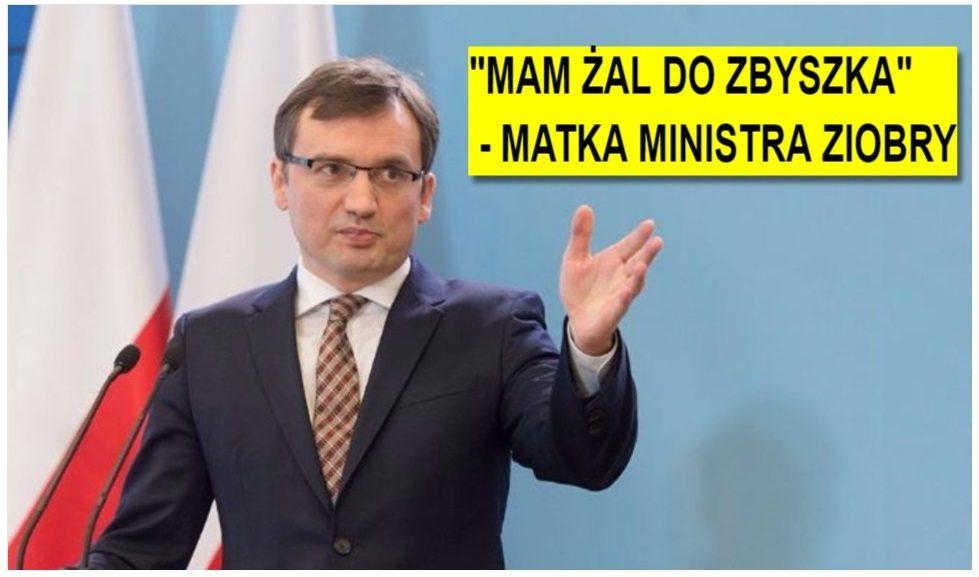 Matka ministra Ziobry zawiedziona: Mam żal do Zbyszka