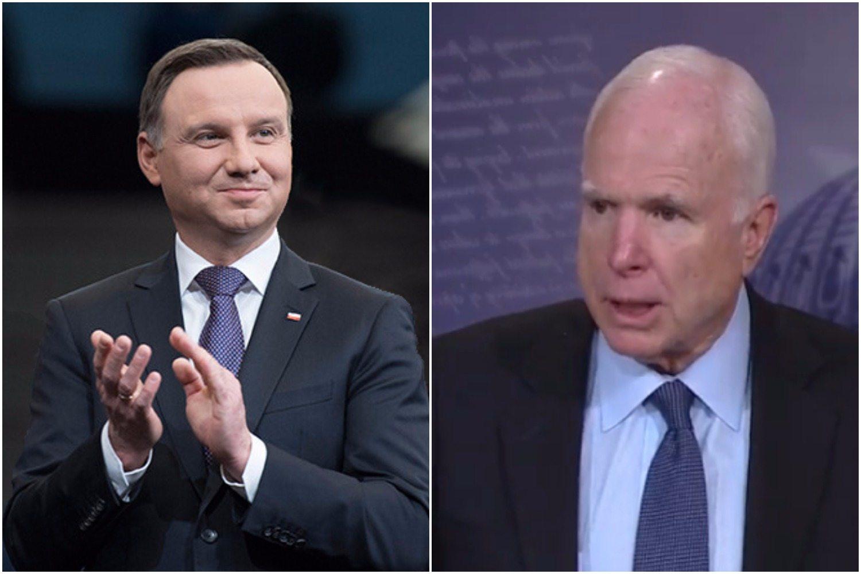 Prezydent Duda odpowiada na bardzo niepokojące słowa senatora McCaina o presji na Polskę