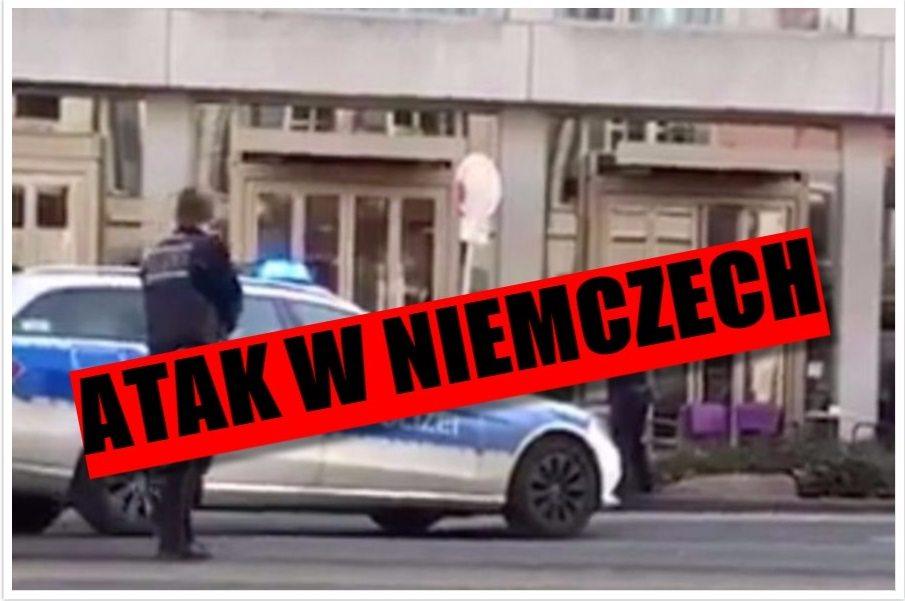 Pierwsze nagranie z miejsca ataku w Niemczech (video)