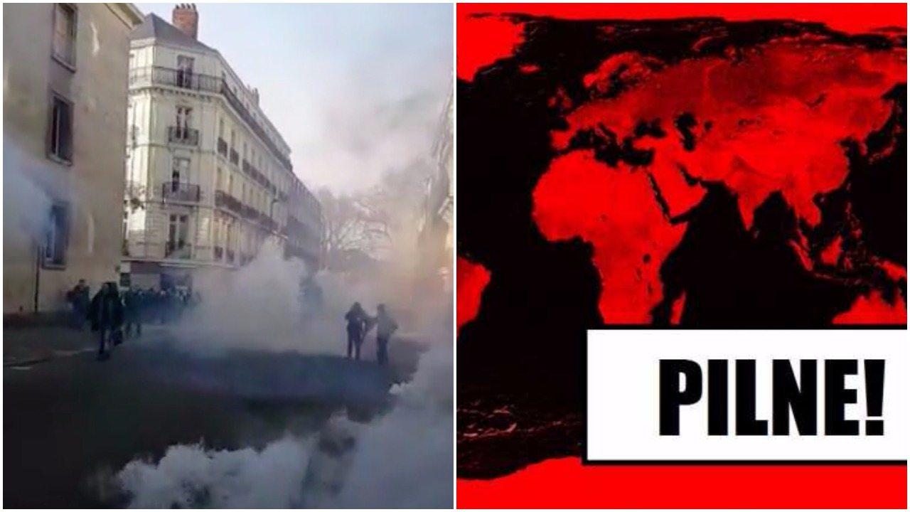 PILNE: Zamieszki we Francji, lewicowy protest wymknął się spod kontroli (VIDEO)