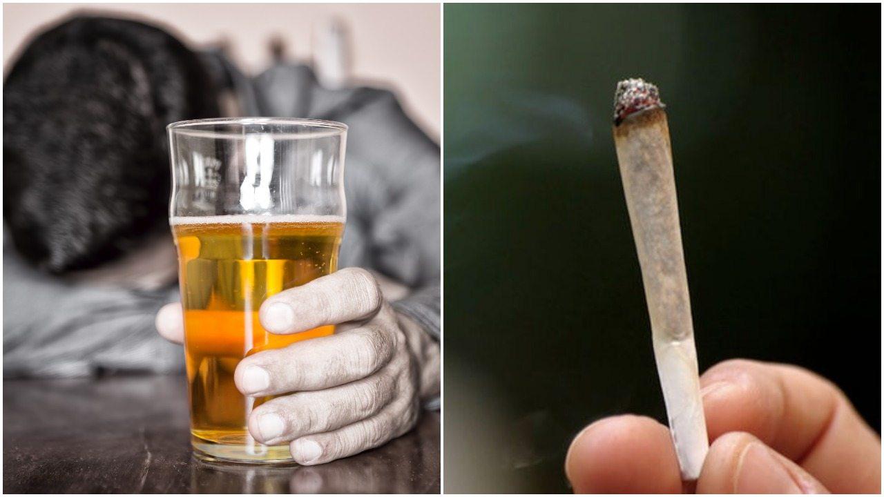 Mamy dane o alkoholu i marihuanie. Kto używa ich częściej - głupi czy inteligentni?