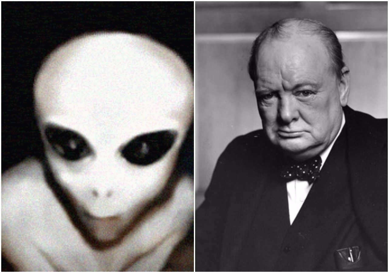 Niesamowite znalezisko! Odkryto niepublikowany esej Churchilla o kosmitach