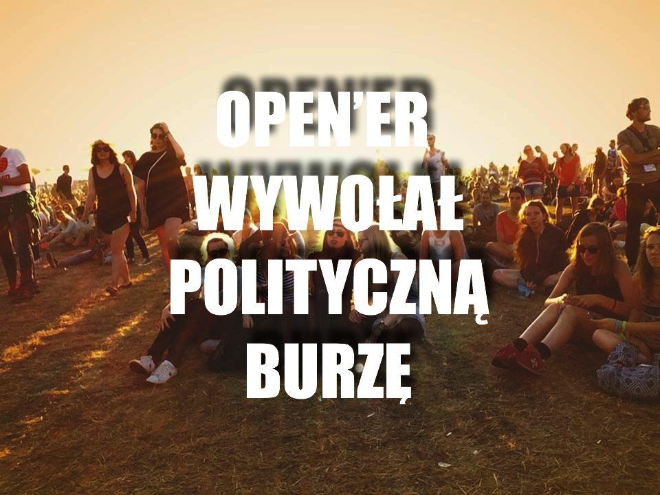 """Fani Open'era podzieleni jak nigdy. Festiwal wywołał polityczną burzę jednym """"niewinnym"""" wpisem"""