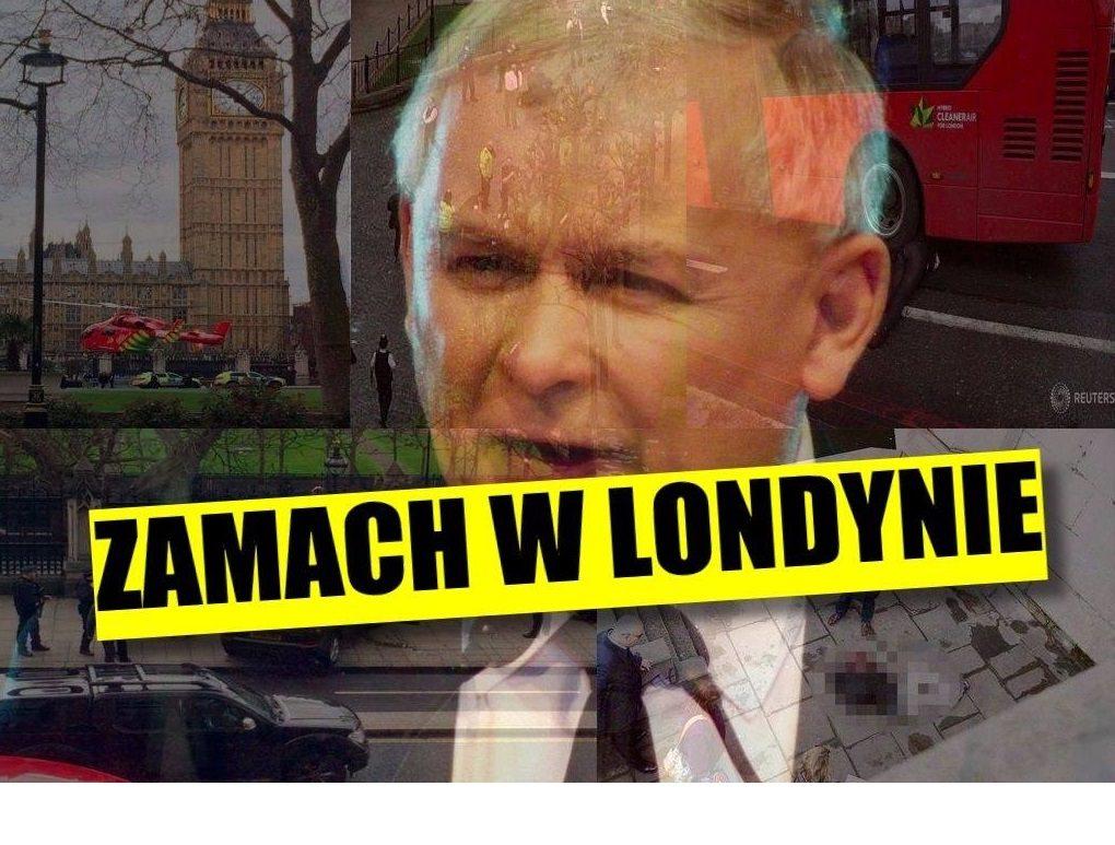 Zamach w Londynie. Jest pilna decyzja w sprawie Kaczyńskiego