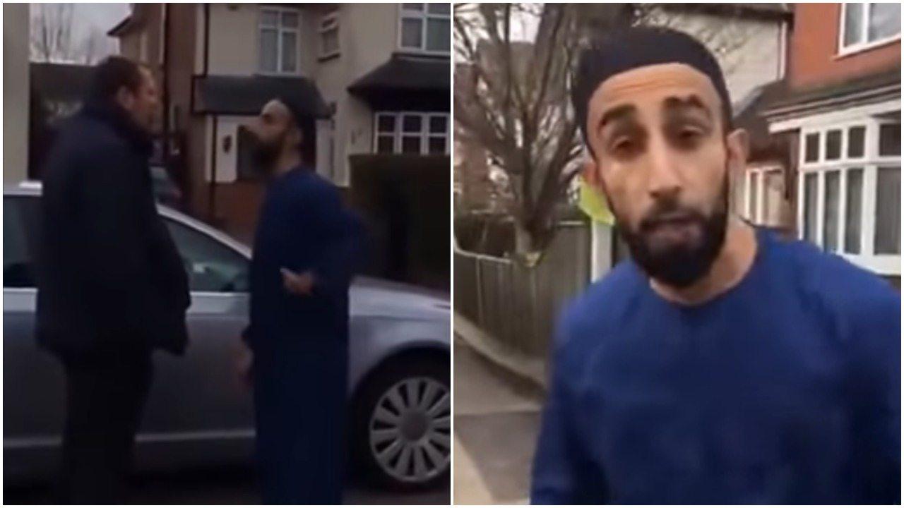 Wściekły muzułmanin zaatakował Polaka. Bał się go uderzyć, więc rzucił się na jego kobietę (video)