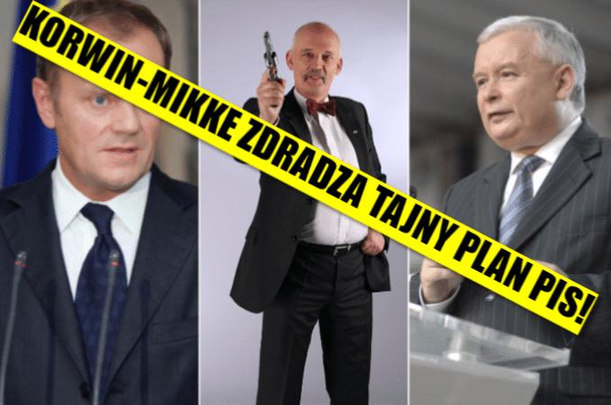 Korwin-Mikke zdradza tajny plan PiS w sprawie Tuska! Absolutne zaskoczenie