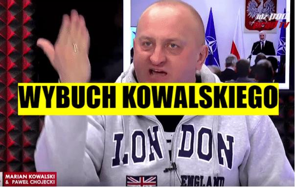 """Kowalski EKSPLODOWAŁ. """"Sk*rwysyńskie państwo, sp*erdalać do TVN"""" (VIDEO)"""