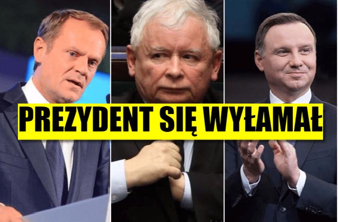 Prezydent Duda wyłamał się od woli Kaczyńskiego! Jest gest w stronę Tuska