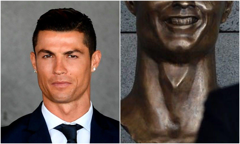 Internet śmieje się do rozpuku. Wszystko przez absurdalną rzeźbę Ronaldo (FOTO)