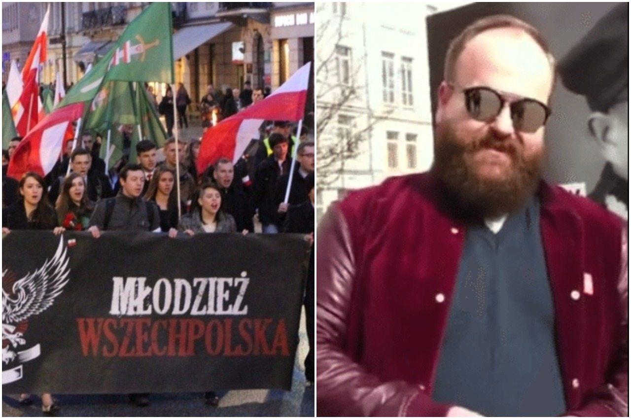 Zwołali konferencję w sprawie Stojanowskiego. Lewicowy działacz pojawił się na niej z policją