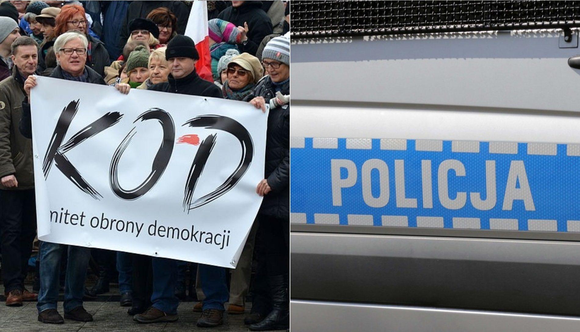 Atak na pikietę KOD w Warszawie. Policja już dokonała zatrzymania (zdjęcia)