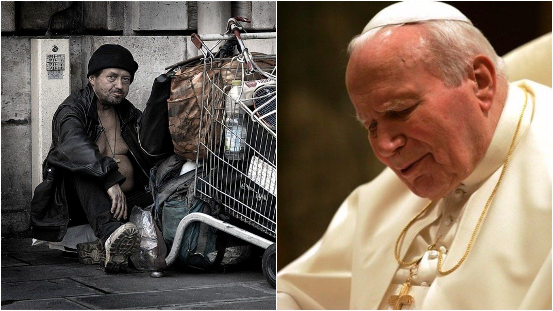 Franciszek ujawnia niezwykłe spotkanie Jana Pawła II z polskim bezdomnym