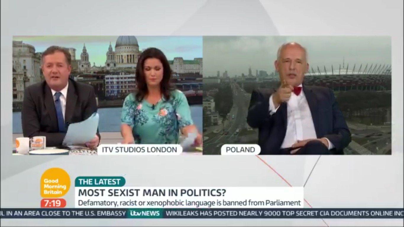 Awantura w brytyjskiej TV. JKM doprowadził prowadzących do furii (VIDEO)